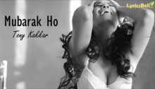 Mubarak Ho Lyrics from Tony Kakkar