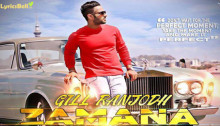 Zamana Lyrics by Gill Ranjodh
