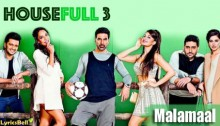 Malamaal Lyrics from Housefull 3