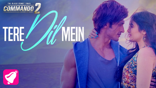 Tere Dil Mein Lyrics from Commando 2