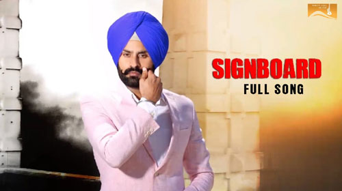 Signboard Lyrics by Rupinder Aujla