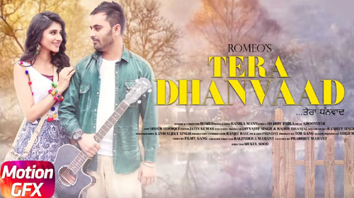 Tera Dhanvaad Lyrics by Romeo