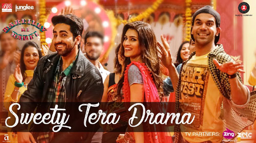 Sweety Tera Drama Lyrics from Bareilly Ki Barfi