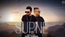 Supne Lyrics by Harf Cheema