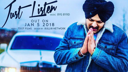 Just Listen Lyrics by Sidhu Moose Wala