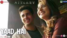 Yaad Hai Lyrics from Aiyaary