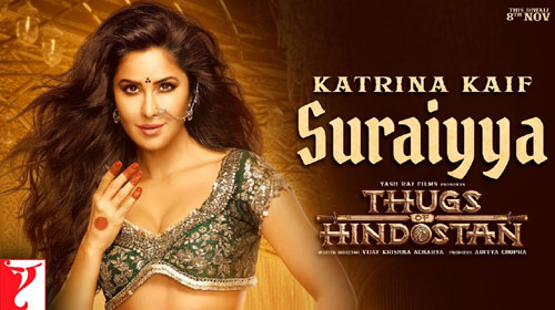 Suraiyya Lyrics from Thugs Of Hindostan feat Aamir Khan